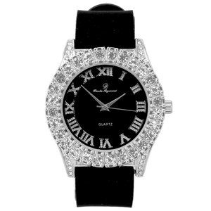 Men Gold ice out watch - Black/Silver